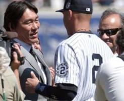 デレク・ジーター遊撃手(40)の引退セレモニーに駆けつけた松井秀喜