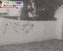 落書き騒動 江角マキコ