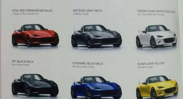 Mx  Miata Paint Colors Brochure