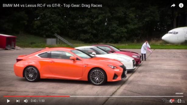 -日産GTR-レクサスRCF-BMW-M4クーペ加速性能-00