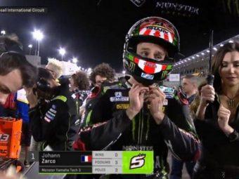 MotoGPに出場したフランス選手 旭日旗デザインのヘルメットで出場したため韓国人から抗議を受ける