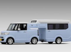 【画像】ホンダ、N-BOXベースの軽ピックアップトラック「N-TRUCK」とトレーラー「N-CAMP」を発表
